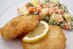De filets van stokvissen Stock Foto