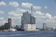 De filharmonische zaal van Hamburg - Elbe Stock Fotografie