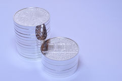 De filharmoniska mynten för silver Arkivfoton