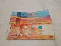 De Filippijnse Rekeningen van de Peso Stock Afbeelding
