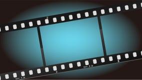 De film blauwe lichte achtergrond van films Stock Afbeeldingen