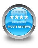 De film herziet glanzende cyaan blauwe ronde knoop Royalty-vrije Stock Foto's