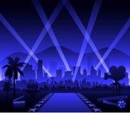 De film rood tapijt van Hollywood vector illustratie