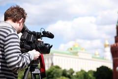 De film van de cameraman Stock Afbeelding