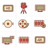 De Film van de pictogrammenstijl Stock Afbeelding