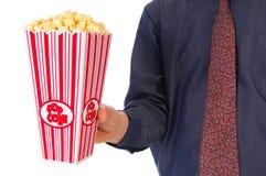 De film van de popcorn Stock Afbeeldingen