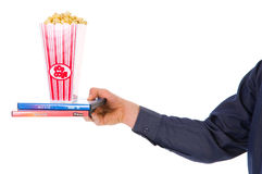 De film van de popcorn Royalty-vrije Stock Afbeeldingen