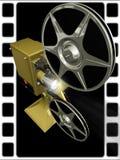 De film van de projector toont een film vector illustratie