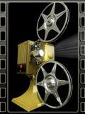De film van de projector toont een film stock illustratie
