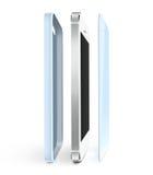 De film van de telefoonbescherming en gevaltribune Smartphone-het glas van de vertoningsbeschermer royalty-vrije illustratie