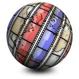 De film van de wereld stock illustratie