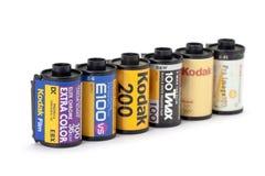 De film van Kodak voor dia, negatief en BW Royalty-vrije Stock Afbeeldingen