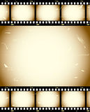 De filmachtergrond van Grunge Stock Foto's