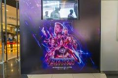 De de filmaffiche van The Avengers Endgame, is een Amerikaanse die superherofilm van 2019 op het team van Marvel Comicssuperhero  royalty-vrije stock foto's