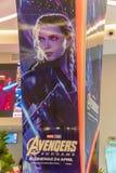 De de filmaffiche van The Avengers Endgame, is een Amerikaanse die superherofilm van 2019 op het team van Marvel Comicssuperhero  stock foto