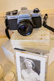 De Filmcamera van Pentaxasahi K1000 35mm Royalty-vrije Stock Foto