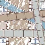 De filmsachtergrond van Grunge Stock Fotografie