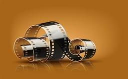 De filmspoel van de filmbioskoop Royalty-vrije Stock Afbeeldingen