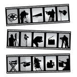 De filmstrip van de film Stock Foto's
