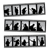 De filmstrip van de muziek stock illustratie