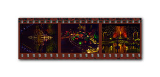 De filmstrip van Kerstmis-Themed foto's Stock Afbeeldingen