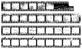 De filmstrippen van Grunge Stock Afbeeldingen