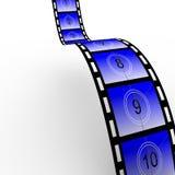 De filmstrook 02 van de aftelprocedure Royalty-vrije Stock Foto's
