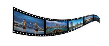De filmstrook van Londen Stock Foto