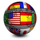 De filmvlaggen van de wereld Stock Afbeelding
