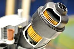 De filter van de autoolie met huisvesting royalty-vrije stock foto