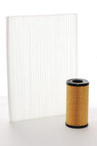 De filter van de lucht en van de oliefilter patroon Royalty-vrije Stock Afbeeldingen
