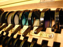 De filters van de kleur in de doos Royalty-vrije Stock Foto's