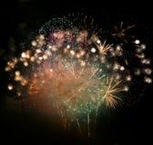 De Finale van het vuurwerk Stock Fotografie