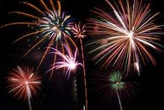 De finale van het vuurwerk Stock Foto's