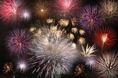 De finale van het vuurwerk Stock Foto