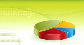 De financiële achtergrond van Grafieken Stock Fotografie
