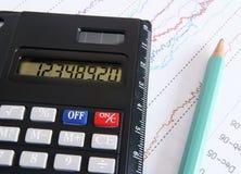 De financiële analyse stock foto