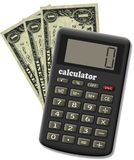 De financiële calculator. Stock Foto