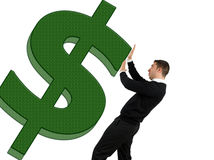 De financiële crisis van de dollar Royalty-vrije Stock Afbeeldingen