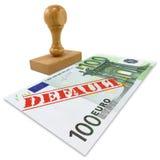 De financiële crisis van Eurozone Stock Fotografie