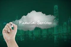 De financiële diensten op wolk Stock Foto