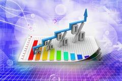 De financiële groei in percentage Stock Fotografie