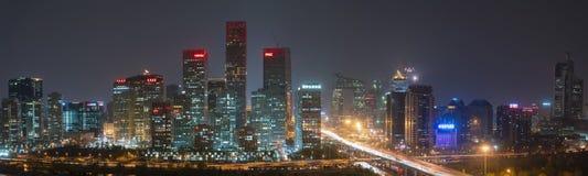 De Financiële horizon van Peking, Centraal, Bedrijfsdistrict, Peking royalty-vrije stock foto