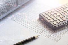 De financiële investering van de begrotingseffectenbeurs Stock Afbeelding