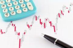 De Financiële Markt van de Effectenbeursgrafiek Stock Foto