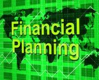 De financiële Planning toont Doel Handel en Aspiraties vector illustratie