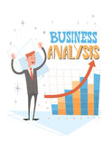 De Financiële Zaken van zakenmananalysis finance graph Royalty-vrije Stock Afbeeldingen