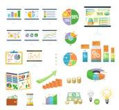 De Financiën Diagramm van gegevenshulpmiddelen en Grafisch vector illustratie