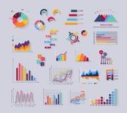 De Financiën Diagramm van gegevenshulpmiddelen en Grafisch stock illustratie