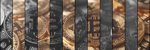 De financiën en de technologieconcept van het Cryptocurrencyconcept Bitcoin, Stock Fotografie